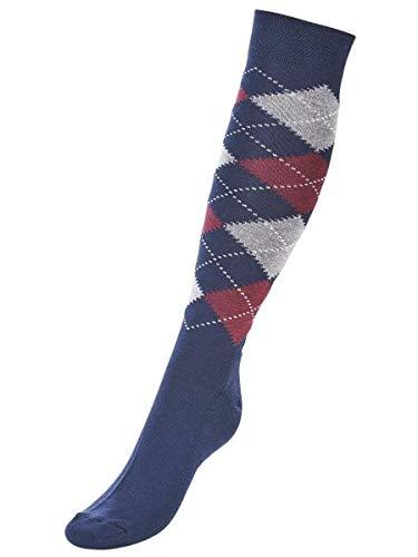 Busse Socken Comfort-KARO III, 35-38, Navy/Grey/Wine