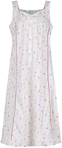 The 1 for U 100{590f5edbe7e6f5ec071341048c16015f89747b248552fb8163ee5c6397c3c69e} Baumwolle Nachthemd - Nancy - S - XXXXL … - Vintage Rose, XL