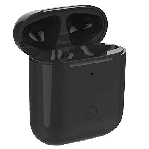 Lopnord Estuche de Carga Inalámbrica con Botón de Sincronización Compatible con AirPods 1 2 con Emparejamiento Bluetooth (Air Pods no Incluidas), Cubierta Protectora para Auriculares (Black)