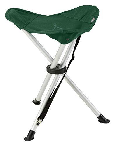 Grand Canyon SUPAI - sedia da campeggio, sgabello treppiede pieghevole - fino a 100 kg - alluminio - Eden (verde)
