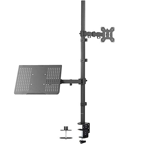 VIVO Laptop and 13 to 32 inch LCD Monitor Stand up Desk Mount, Extra Tall Adjustable Stand, Fits Laptops up to 17 inches (STAND-V012C) (Renewed)