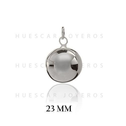 Huescar Joyeros Llamador de Angel clásico en Plata de Ley con Bola Interior de Metal
