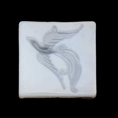 HR-COM - Moule En Silicone Pour Bijoux Pendentif Phoenix Oiseau Beauté - Outil De Bricolage Fabrication De Bijoux