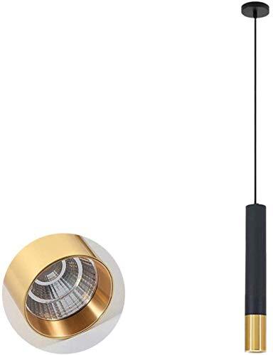MJK Novedad Lámpara de techo, Lámparas colgantes cilíndricas de metal industrial, Barra de bar LED Lámparas colgantes para restaurante Lámparas colgantes, Iluminación colgante para sala de estar Dorm