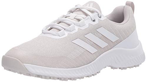 adidas Women's W Response Bounce 2 SL Golf Shoe, FTWR White/Orbit Grey/Silver Metallic, 8.5 Medium US