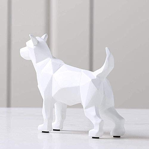 JLXQL Decoración Escultura Bustos Esculturas Escultura Estatua Animal Origami Escultura Artesanía Adornos creativos para Perros