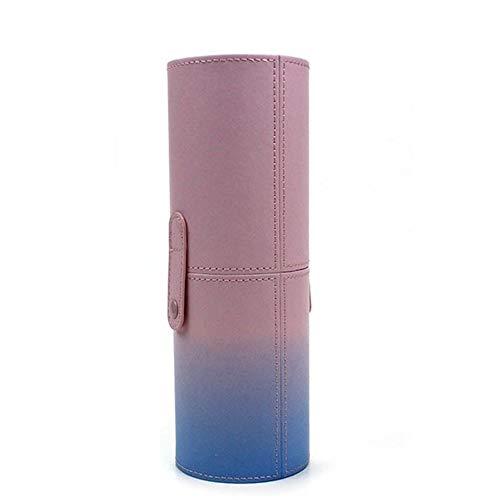 ZRDY Porte-Stylo Portable Vide Maquillage Porte-Stylo Tasse Cosmétique Porte-Brosse en Cuir PU Titulaire Porte-Pinceau (Color : L with Buckle)