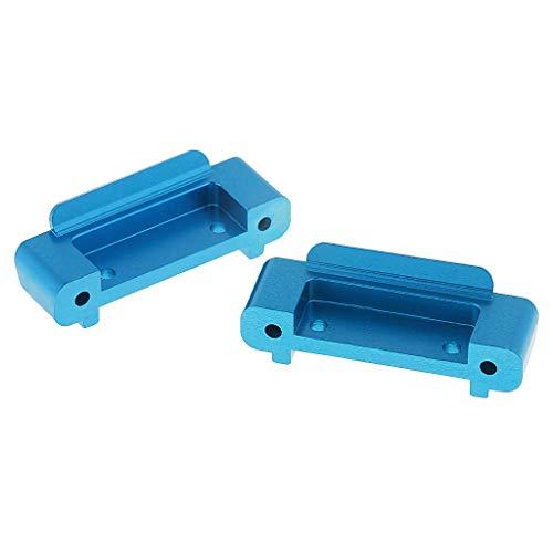 Preisvergleich Produktbild 2pcs 1:18 Vorne und Hinten Antikollision Schutz Stange Stoßstange Ersatzteil für Wltoys A959-b A969-b A979-b - Blau