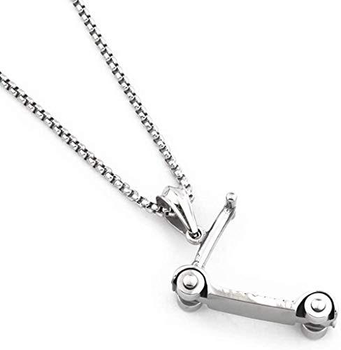 NC190 Hiphop Scooter Anhänger Halskette Top Qualität Edelstahl Schmuck für Männer Frauen Geschenk