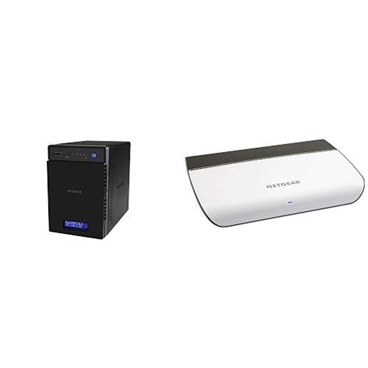 疾患話さようならNETGEAR NAS+スイッチングハブセット:ReadyNAS214 4ベイNAS デスクトップ型 Diskless RN21400-100AJS +スイッチングハブ ギガ 8ポート GS908-100JPS
