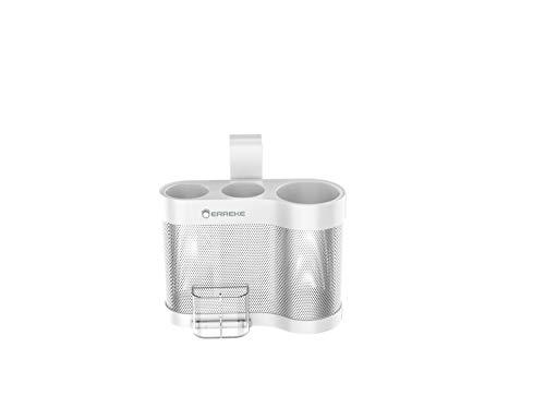 Erreke - Fönhalter ohne Bohren, Haartrockner, Glätteisen Halterung, sicher und widerstandsfähig, Farbe Weiß.