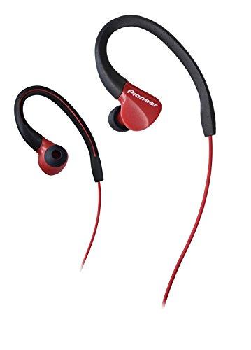 Pionner E3 Ecouteurs sport intra-auriculaire (Résistant aux éclaboussures - IPX2, écouteurs design, câble 1,2 m avec prise jack 3,5 mm, idéal pour la course à pied et le fitness), rouge