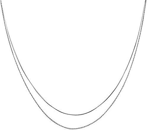 Ahuyongqing Co.,ltd Collar, Collar, Cadena Corta de Doble Cadena para Mujer, Collar con Colgante, Regalo para Mujeres, Hombres, niñas, niños