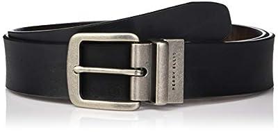 Perry Ellis Men's Portfolio Cut Edge Reversible Casual Belt 38mm, black/Brown, 38