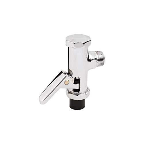 ADGO Spülen Automatisches 3/4'' Anschluss Ventil Druckspüler für WC Toilette Urinal Abschaltknopf Chrom (Silber)