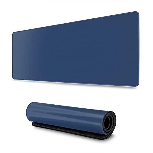 Large Mouse pad Gaming,XXL Extended Mouse Pad Gaming with Stitched Edges Computer Full Desk(31.5x11.8 in),Big Mouse Pads Non-Slip Base Desk Mat for Gaming and Office Dark Blue