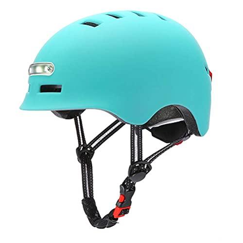 StyleBest Luz LED Casco de Ciclismo Casco de Bicicleta Monopatín eléctrico Rueda de monopatín Casco de luz para Hombres y Mujeres