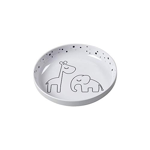 Dreamy Done to Deer Dots Plate Gray