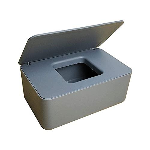 Caja dispensadora de toallitas húmedas con soporte para pañuelos, caja de pañuelos para bebé, caja de papel para pañuelos secos y húmedos con sello de tapa, recipiente para toallitas, caja de almacena