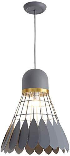 Kronleuchter Einzigartige Badminton Form Lampshade Kreativ einstellbar Licht persönliche Atmosphäre Gewerbefläche Cord Eisen Hängeleuchte (Color : Gray, Size : 35cm)