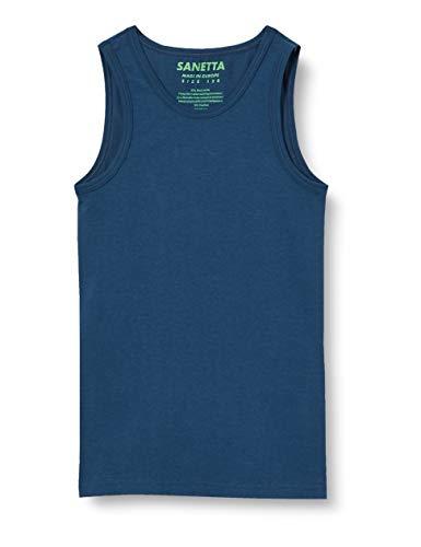 Sanetta Jungen blau Unterhemd, Blue Teal, 140