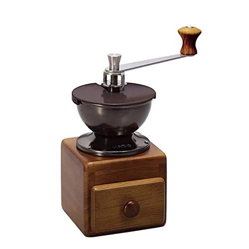 DWW Handmatige koffiemolen – kegelvormige keramische grat – Omdat koffiebonen met de hand het beste smaken – onbeperkt instelbaar maalgoed, glazen flessen, roestvrij staal, duurzaam, stil, draagbaar