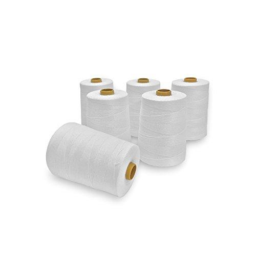 Carrete de hilo de coser resistente para bolsas de costura más cerca de 3600 pies (6 rollos)