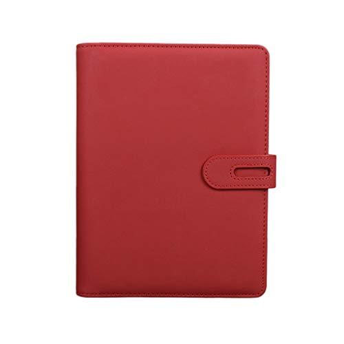 Cuaderno de tapa dura Cuaderno A5 Multifunción Hebilla magnética Hojas sueltas Cuaderno de negocios Cuaderno de oficina Reunión Libro de registro 100 Hojas Cuaderno de diario rayado de papel grueso