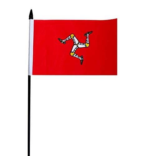 Bandera de Isla de Man Isla Ondeando de 6