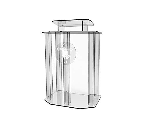 FixtureDisplays Plexiglass Acrylic Podium Pulpit Lectern Clear Transparent Lucite with Pray Hand Decor Ship Uassembled 1803-4+12152-NF