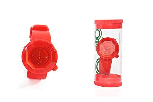 Orologio da polso esagonale rosso