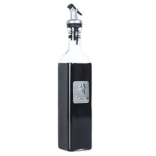 ukYukiko 500ml Glas Olijfolie Fles Olie & Azijn Cruet Karaf Decanter voor Keuken