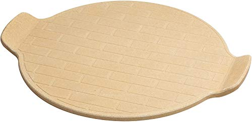 13-in. Pizza Grilling Ceramic Stone Natural Pizza Stone for Best Crispy Crust Pizza, Certified Safe, for Ovens & Grills.