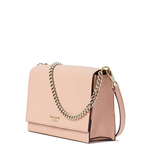 Kate Spade New York Leather Cameron Convertible Crossbody Handbag Clutch, Warm Vellum
