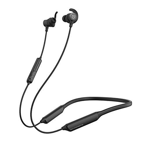 SoundPEATS(サウンドピーツ) FORCE HD Bluetooth イヤホン ワイヤレス イヤホン Bluetooth5.0搭載 APTX-HDコーデック対応 高音質・低遅延 ブルートゥース イヤホン 超軽量 30時間連続再生 IPX6防水 トップグレードのシリコーン使用 マグネット内蔵 CVC ノイズキャンセリング搭載 ハンズフリー通話 ワイヤレス ヘッドホン iPhone Android対応 [メーカー1年保証] ブラック