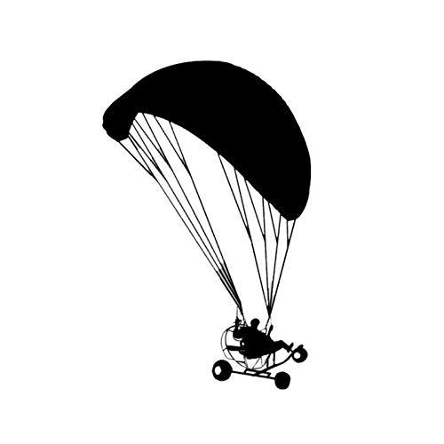 BLOUR 9.9 * 15.7CM Powered Paragliding Personalisierte Autoaufkleber Fashion Reflective Vinyl Decals Schwarz/Silber C7-0713