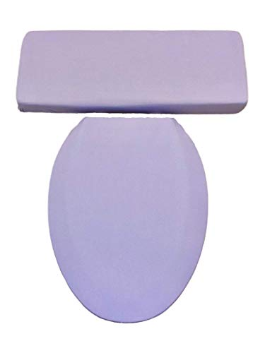 Solid Lavender Bathroom Decor - Toilet Seat Lid & Tank Lid Cover Set - Audrey Belisle
