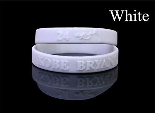 FXC 1 pieza pulsera de goma de baloncesto pulseras hacer pulseras de goma gel de sílice círculo de mano, blanco