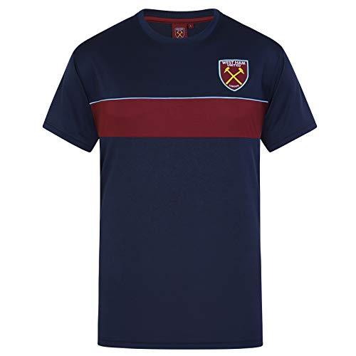 West Ham United FC - Camiseta Oficial de Entrenamiento - para Hombre - Poliéster - Azul Marino - M