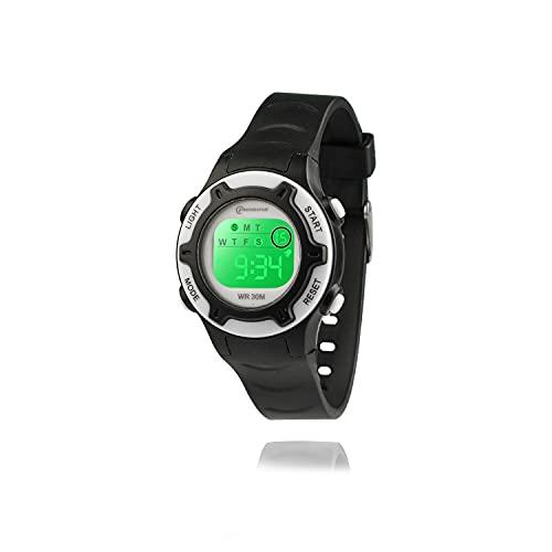 Kinderuhr Digitale für Jungen Mädchen,7 Farbe LED Wasserdicht Kinder Armbanduhr Sport Multifunktions mit Alarm Armbanduhr für Jungen Mädchen Alter 4-12 als Geschenk