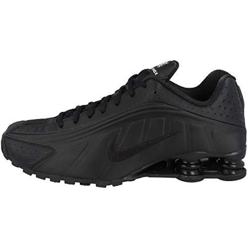 Nike Shox R4, Scarpe da Atletica Leggera Uomo, Nero (Black/Black/Black/White 44), EU