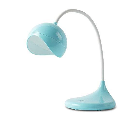 Liangsujiantd Flexo Led Escritorio, Cuello de cisne, regulador táctil Mesita de luz de la lámpara, el cuidado de los ojos-lámparas de mesa, lámpara regulable Oficina con puerto de carga USB, recargabl