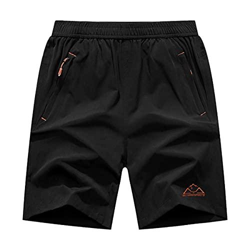 Gopune メンズ アウトドアパンツ 吸汗速乾ズボン スポーツ ランニング ズボン ファスナーポケット付き ブラック1 M
