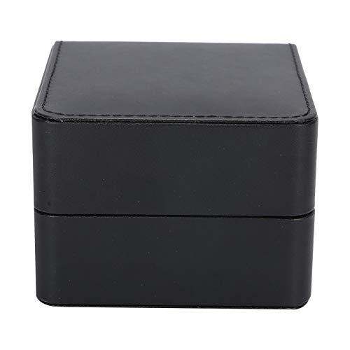 Uxsiya Caja de Reloj Caja de Regalo Suave y Suave, para Collares, Pulseras, Pendientes, broches, Almacenamiento (Rojo)(Black)