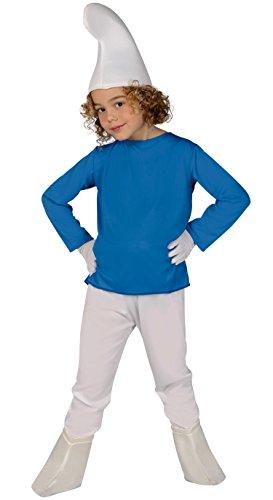 Guirca Costume vestito Puffo carnevale bambino 8155_ 5-6 anni