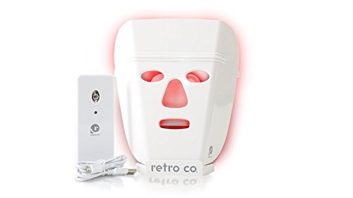 retro co. Fast Facial Mask L.E.D. Advanced FDA Cleared Red and IR LED Mask for Anti Aging