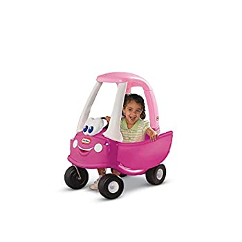 Little Tikes Princess Cozy Coupe Ride-On Toy - Toddler Car Push and Buggy Includes Working Doors Steering Wheel Horn Gas Cap Ignition Switch - For Boys and Girls Active Play  Pink