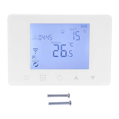 Tubicu WiFi Room Thermostat Gas Boiler Wall-Mounted Heating Wireless Remote Temperature Controller for Home 110V 220V