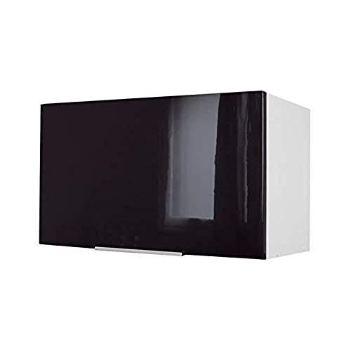 Berlenus CH6HN - Mueble Alto de Cocina para Cubrir la Campana (60 cm), Color Negro Brillante