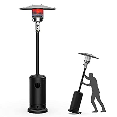 48,000 BTUs Outdoor Heaters for Patio Propane,Terra Hiker Outdoor Patio Heater with Wheels, Stainless Steel Propane Space Heaters, Garden Gas Heater with ETL Certified safety Ignition System